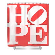 Hope Inverted Red Shower Curtain