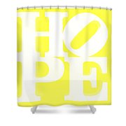Hope Inverted Yellow Shower Curtain