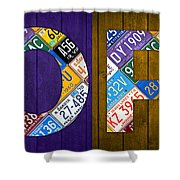 Hope Lettering Sign Kitchen Dining Room Recycled Vintage License Plate Art Shower Curtain