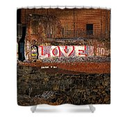 Hope Love Lovelife Shower Curtain