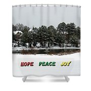 Hope Peace Joy Shower Curtain