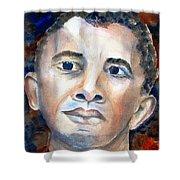 Hopeful - President-elect Shower Curtain by Carlin Blahnik