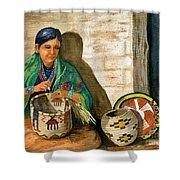 Hopi Basket Weaver Shower Curtain