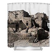 Hopi Hilltop Indian Dwelling 1920 Shower Curtain