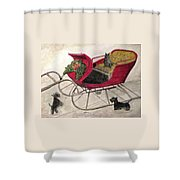 Hoping For A Sleigh Ride Shower Curtain