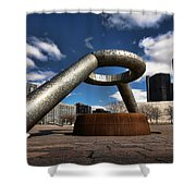Horace Dodge Fountain Hart Plaza Detroit Michigan  Shower Curtain