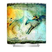Horse Racing 02 Madness Shower Curtain