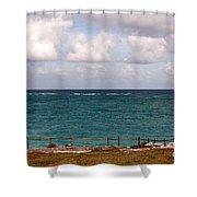 Horizon At Tulum Shower Curtain