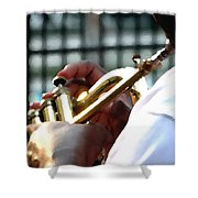 Horn Player Pk 0071 Shower Curtain