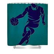 Hornets Basketball Player3 Shower Curtain
