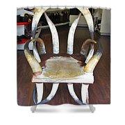 Horny Chair Shower Curtain