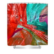 Horny Explosion Of Lust Shower Curtain