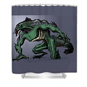 Horrid Creature Shower Curtain