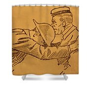 Hors De Combat Shower Curtain