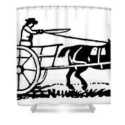 Horse & Cart, 19th Century Shower Curtain