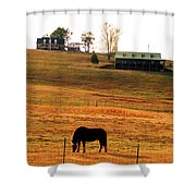 Horse And Farm By Jan Marvin Shower Curtain