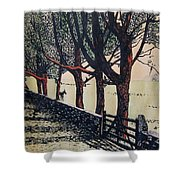 Horse And Fence Shower Curtain