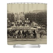 Horse And Trolley Main Street Disneyland Heirloom Shower Curtain