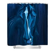 horse - Apple indigo Shower Curtain