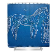 Horse Automatic Toy Patent Artwork 1867 Shower Curtain by Nikki Marie Smith