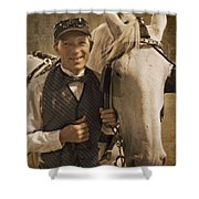 Horse Carriage Driver 1 Shower Curtain