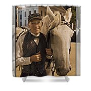 Horse Carriage Driver 3 Shower Curtain