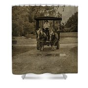 Horse Carriage Tour Shower Curtain