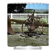 Horse Drawn Plow Shower Curtain