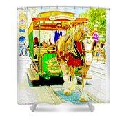 Horse Drawn Trolley Car Main Street Usa Shower Curtain