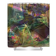 Horse Feathers - Square Version Shower Curtain
