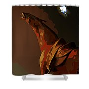 Horse Howl Shower Curtain