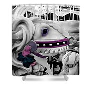 Horse Of A Different Color Shower Curtain