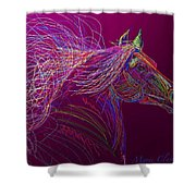 Horse Of Fire Shower Curtain