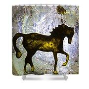 Horse On A Quartz Crystal Shower Curtain