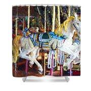 Horse On Carousel Shower Curtain