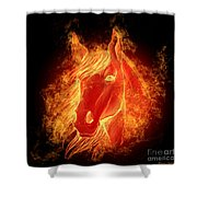 Horse On Fire  Shower Curtain