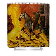 Horse On The Fire Shower Curtain