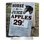Horse Or Juice Apples Shower Curtain