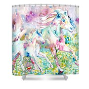 Horse Painting.17 Shower Curtain