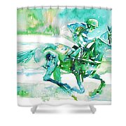 Horse Painting.18 Shower Curtain