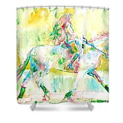 Horse Painting.19 Shower Curtain