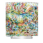 Horse Painting.20 Shower Curtain