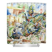 Horse Painting.21 Shower Curtain