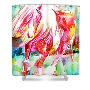Horse Painting.22 Shower Curtain