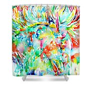 Horse Painting.29 Shower Curtain