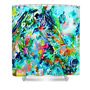 Horse Painting.30 Shower Curtain