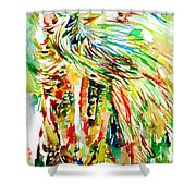 Horse Painting.31 Shower Curtain
