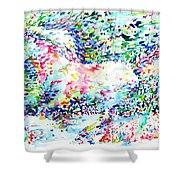 Horse Painting.32 Shower Curtain