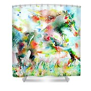 Horse Painting.36 Shower Curtain