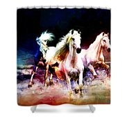 Horse Paintings 002 Shower Curtain by Catf